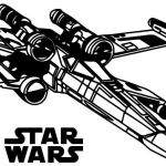 Resistance X Wing Fighter Star Wars Coloring Page