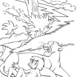 Top Mowgli and Bagheraa the jungle book coloring pages