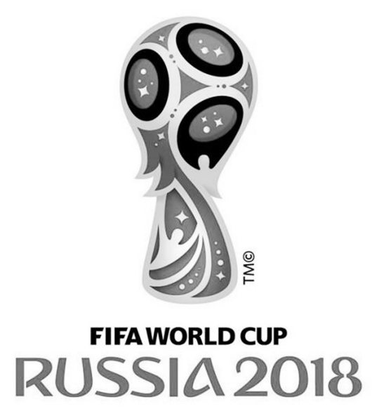 World Cup Russia 2018 Lineart Black and White