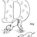 Yoga D Pose like a dog coloring page