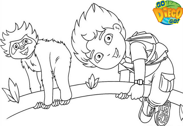 diego and bobo brothers coloring page