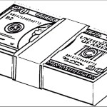 entertaining money coloring picture