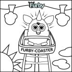 furby riding coaster coloring page