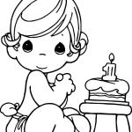 precious moments birthday coloring page