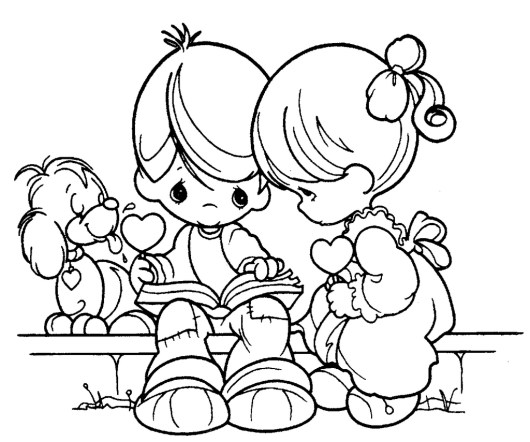 Pretty Awesome Precious Moments Coloring Pages for Boys and Girls ...