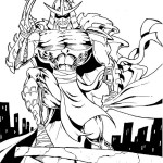 shredder enemy from tmnt coloring and sketch drawing page
