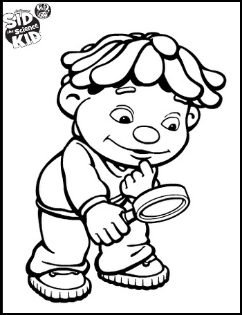 sid the science kid doing observation coloring pages