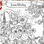 spring efteling coloring page for boys and girls