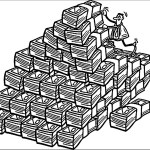 stacks of money coloring sheet