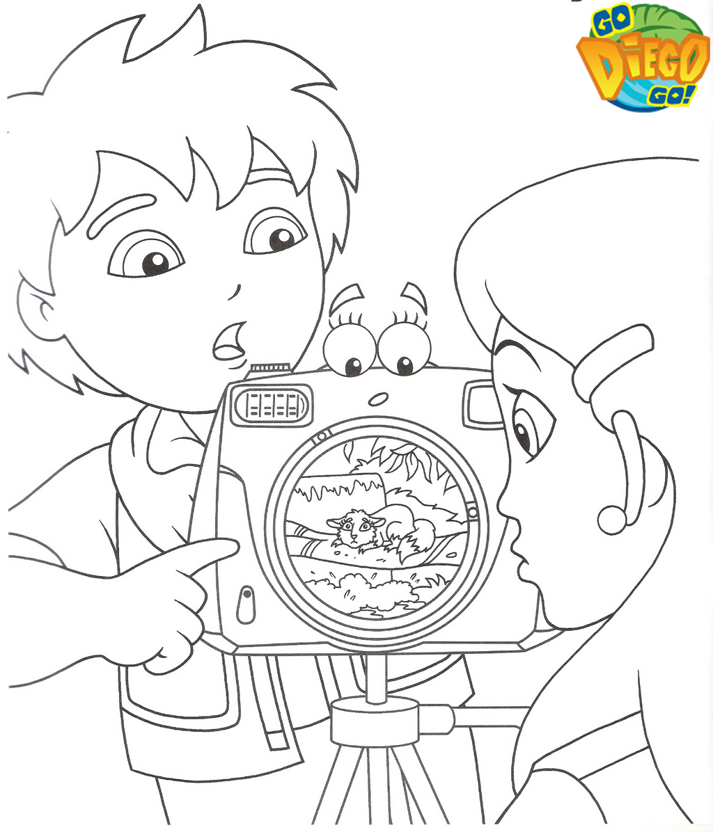 top diego camera coloring pages