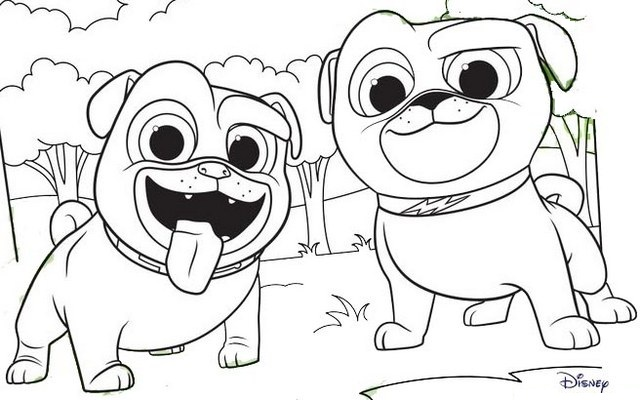 disney junior puppy dog pals coloring page for kids