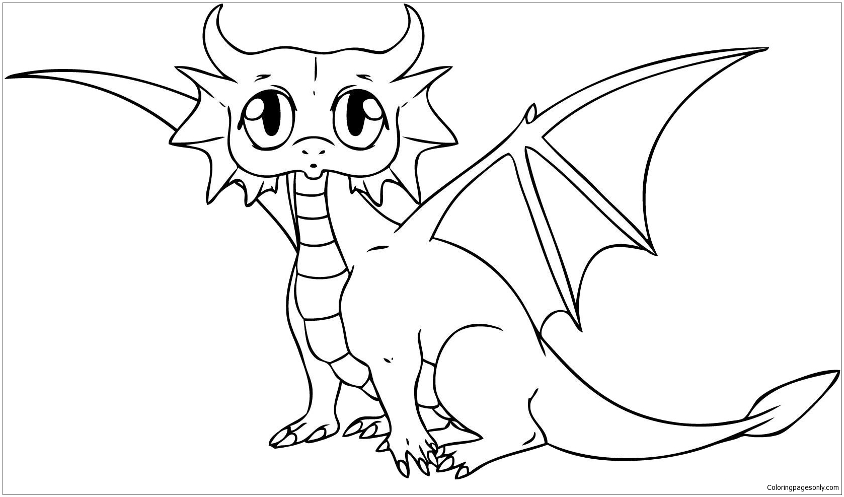 Cute Baby Dragon Coloring Page Free Coloring Pages Online