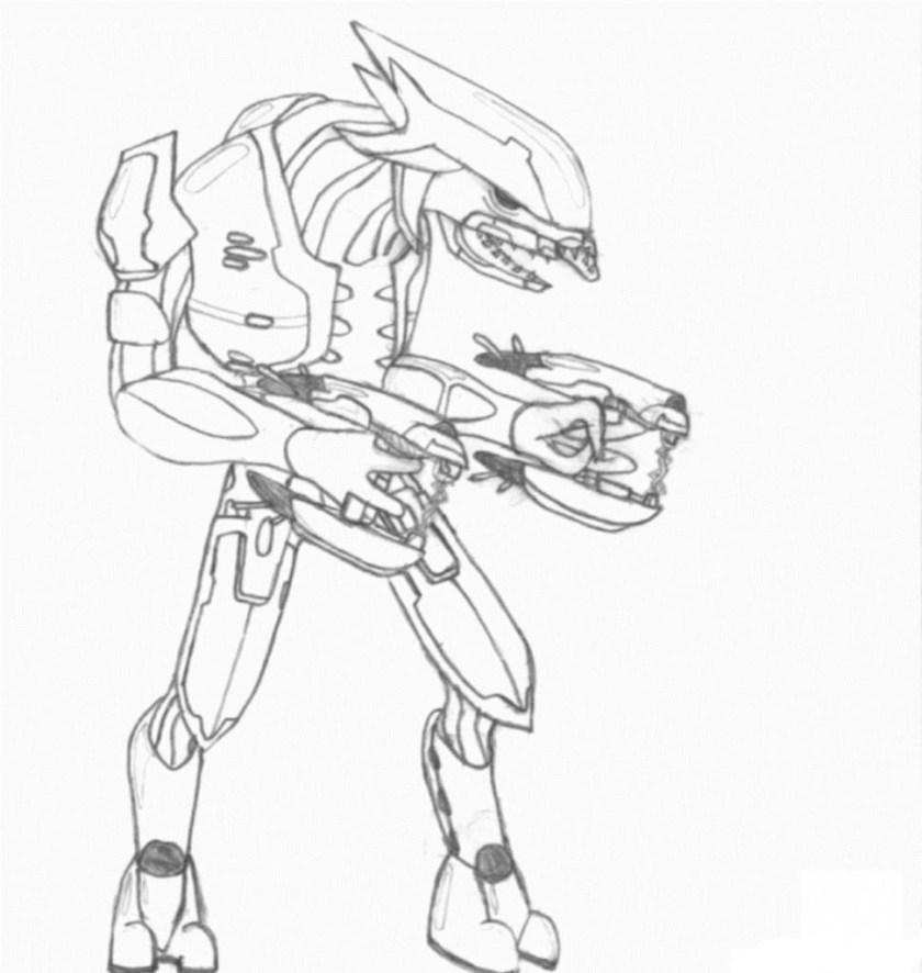 halo master chief coloring page  free coloring pages online