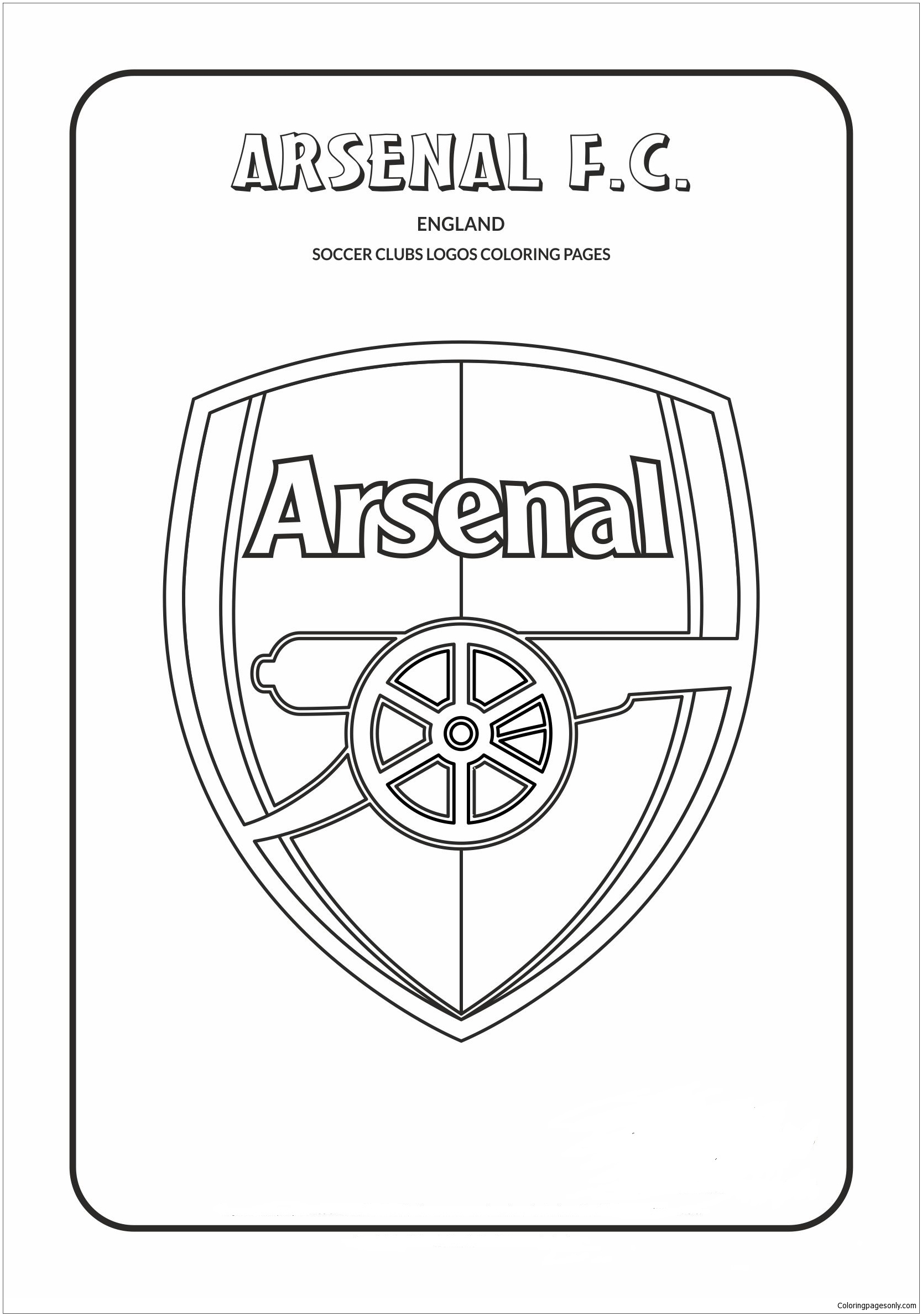 arsenal f c coloring pages soccer
