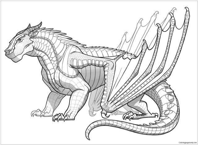 Awesome Mudwing Dragon Coloring Pages - Dragon Coloring Pages