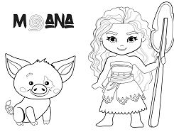Moana Coloring Pages Coloringpagesonly Com