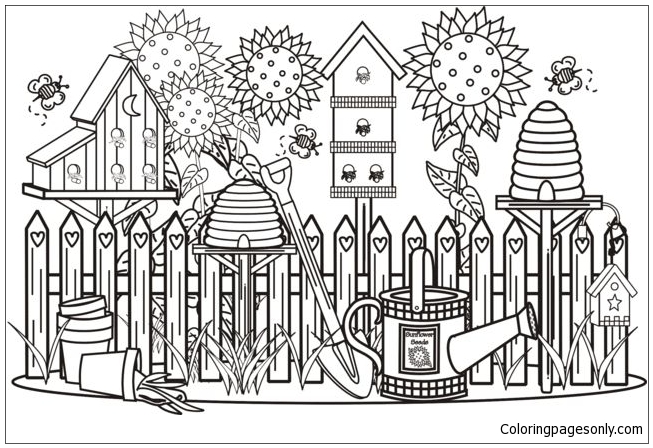 Beautiful Garden 1 Coloring Page Free Coloring Pages Online