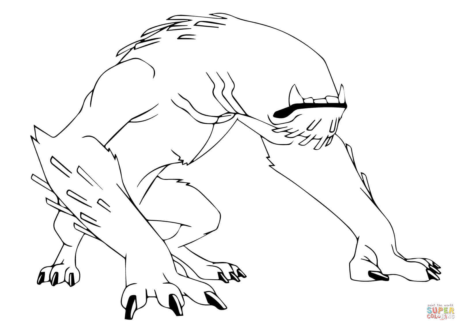 Ben 10 Wildmutt From Ben 10 Coloring Page