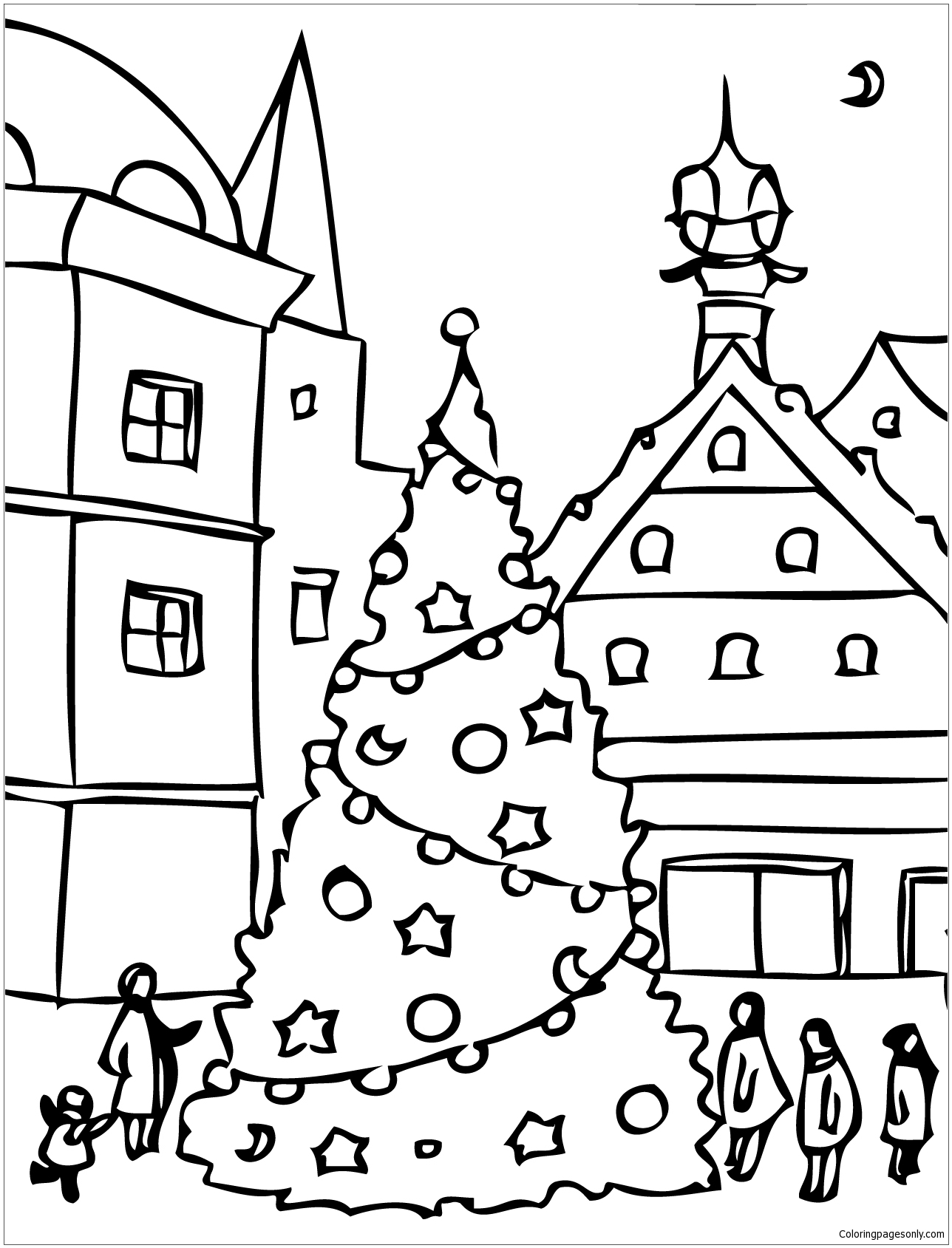 Christmas Day Coloring Page Free Coloring Pages Online