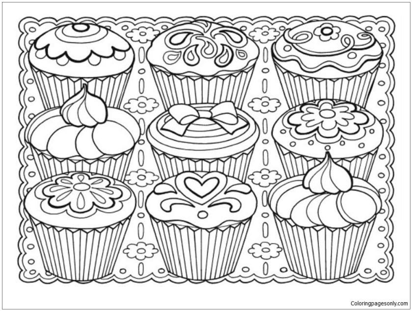 creative haven designer desserts coloring page  free