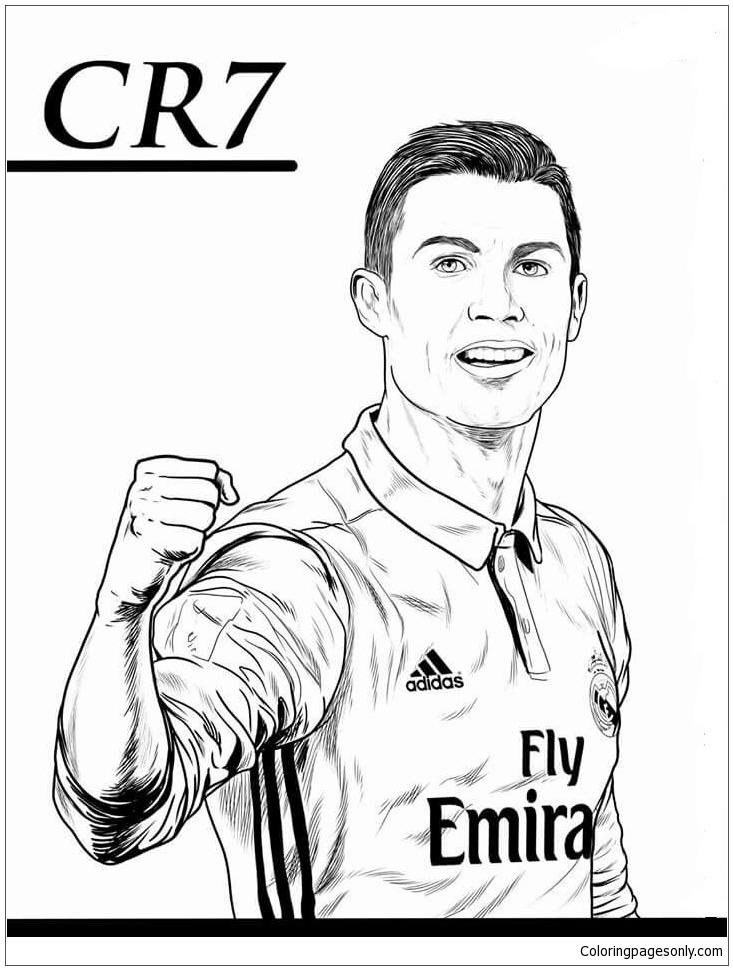 Coloriage De Ronaldo Cristiano Ronaldo Image 5 Coloring Page Fr