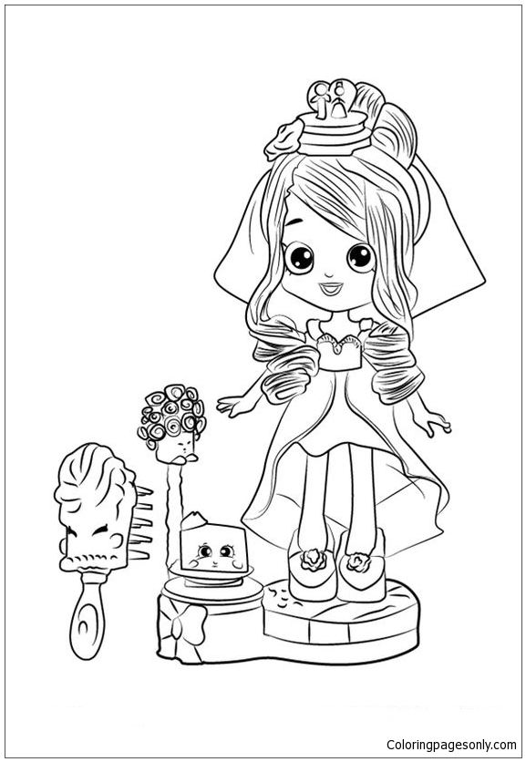Cute Shopkins Bride Coloring Page Free Coloring Pages Online