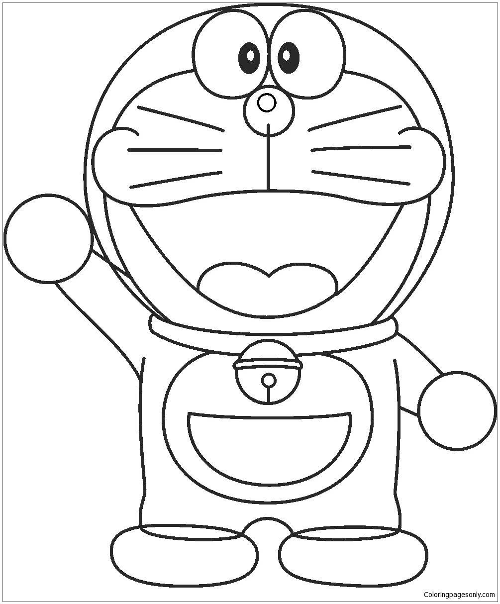 Doraemon Drawing For Kids Coloring Page Free Coloring