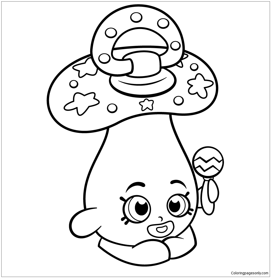 Dum Mee Mee Shopkin Season 2 Coloring Page Free Coloring Pages