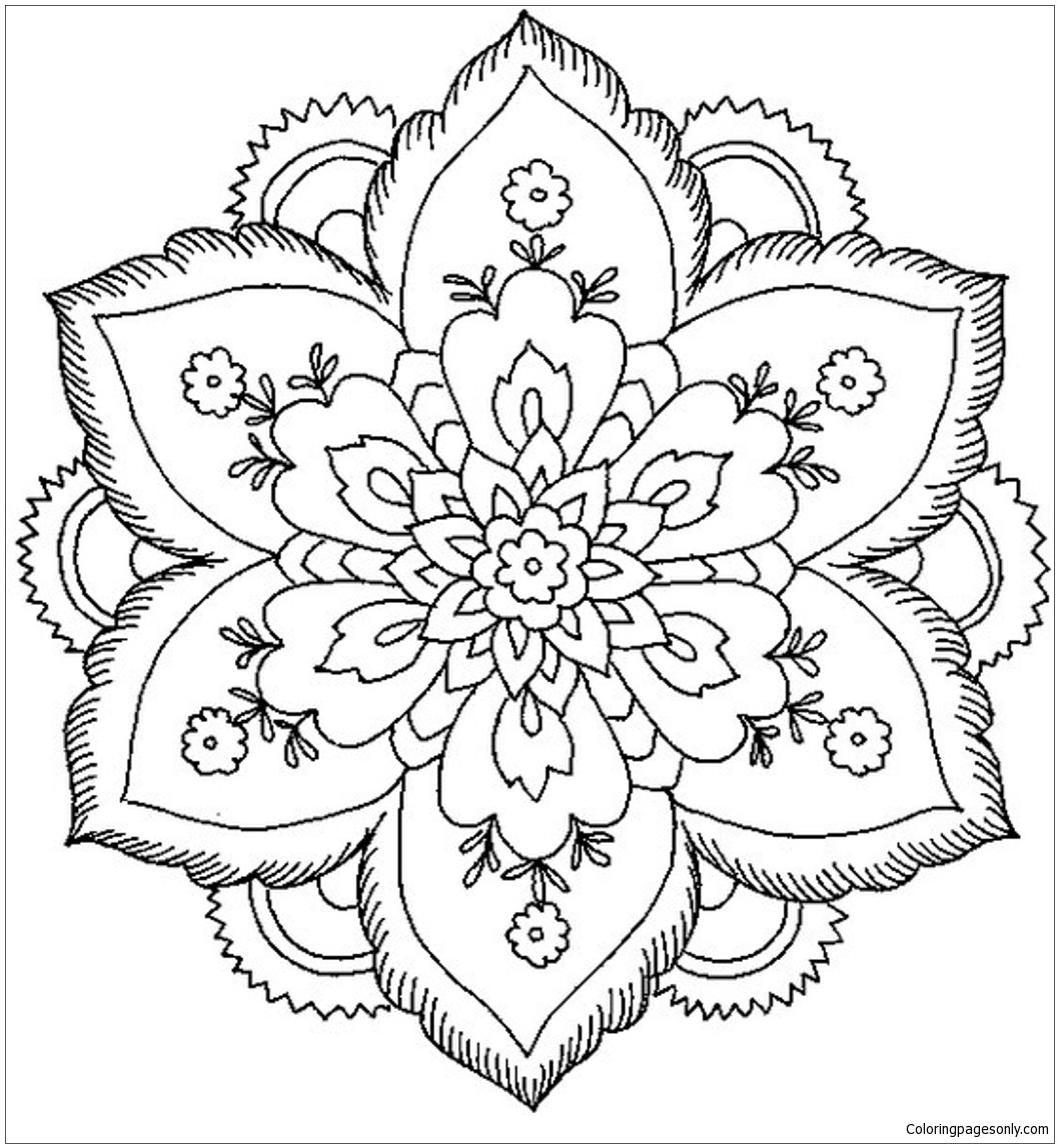 Flower Mandala 5 Coloring Page