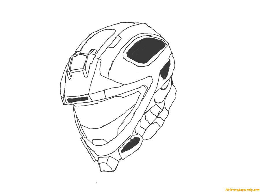 Halo 4 Helmets Coloring Page Free Coloring Pages Online