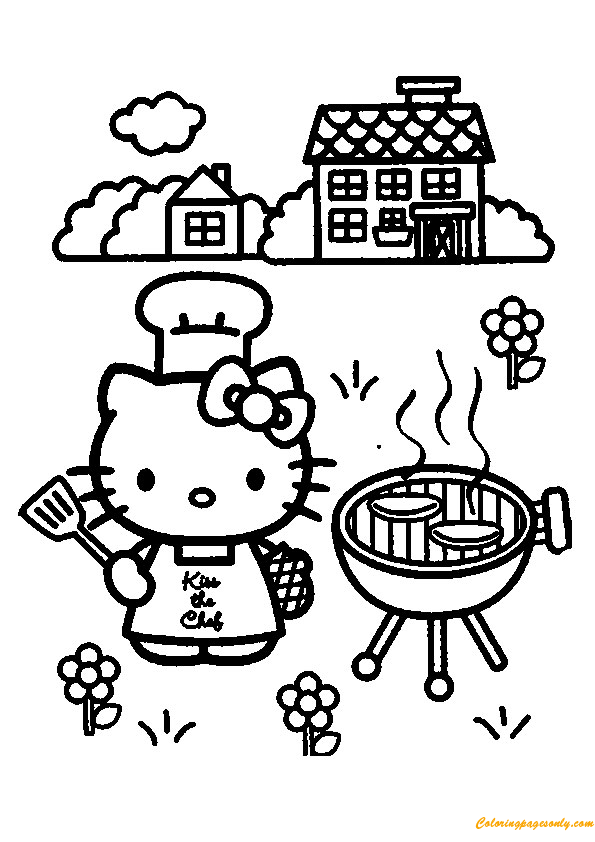 cooking coloring pages # 61
