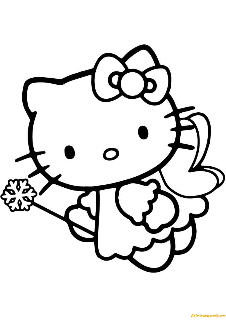 Hello Kitty Fairy Coloring Page Free Coloring Pages Online