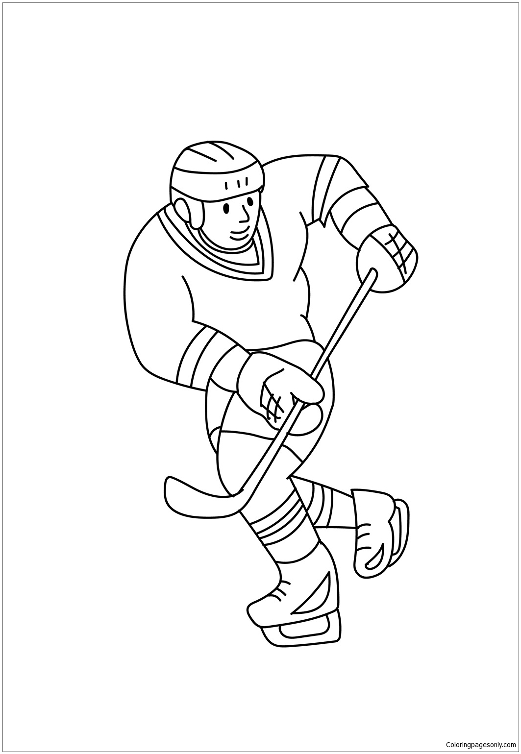Ice Hockey Playing Coloring Page Free Coloring Pages Online