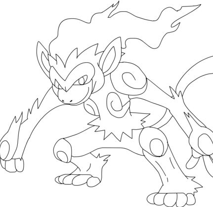 infernape coloring pages | Coloring Page for kids