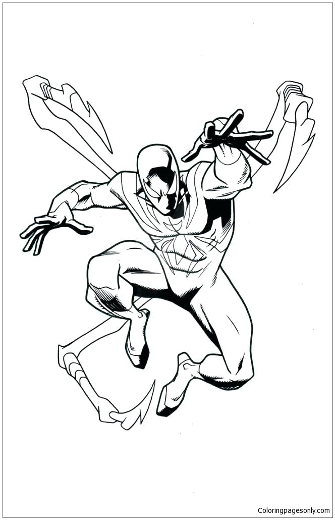 Iron Spiderman Coloring Page Free Coloring Pages Online