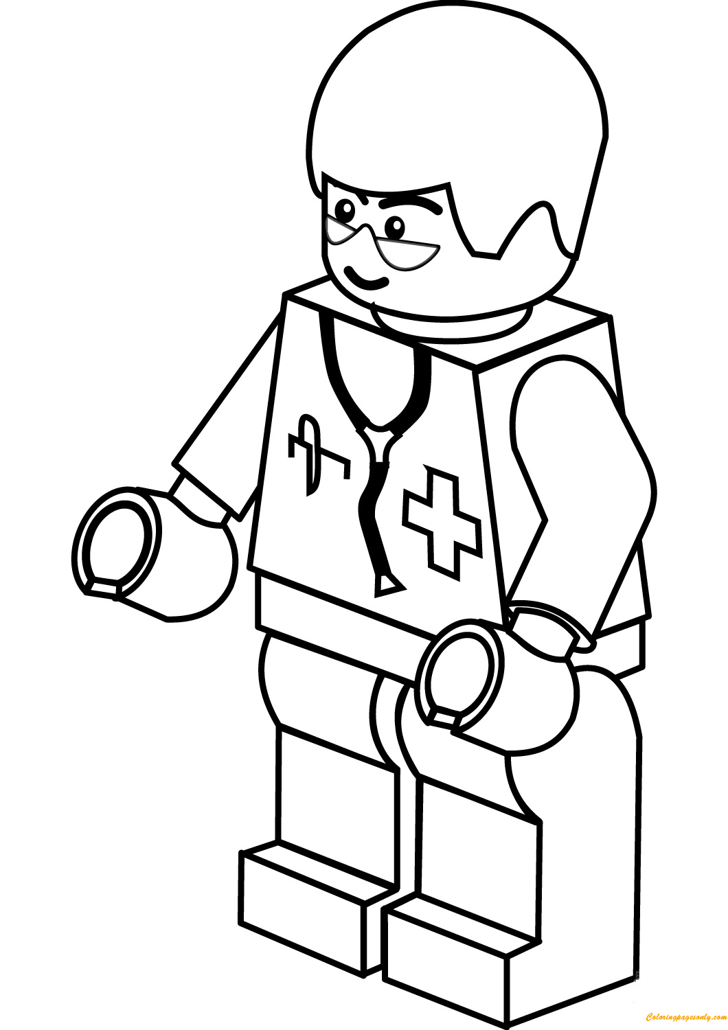 Lego City Doctor Coloring Page Free Coloring Pages Online