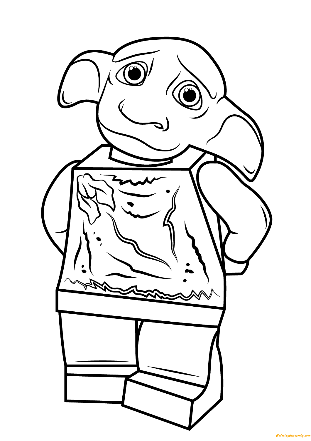 Lego Dobby Harry Potter Coloring Page
