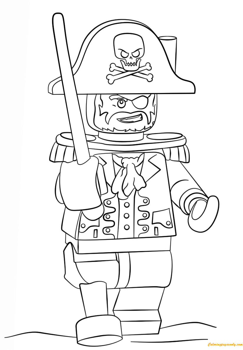 Lego Pirate Coloring Page Free Coloring Pages Online