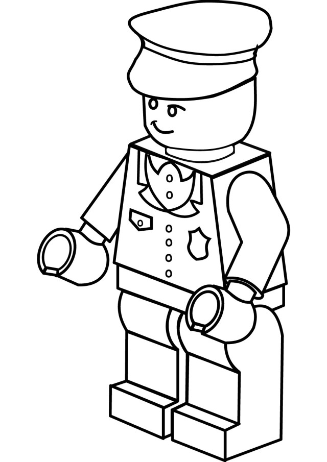 Coloring Pages For Kids And Adults: Free Printable Lego Coloring