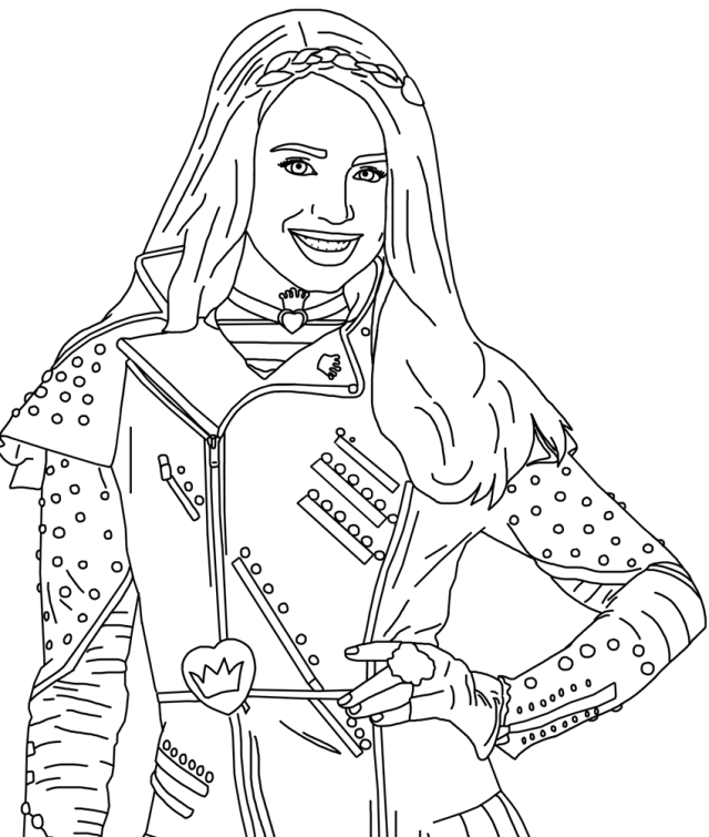 Descendants Coloring Pages - Coloring Pages For Kids And Adults