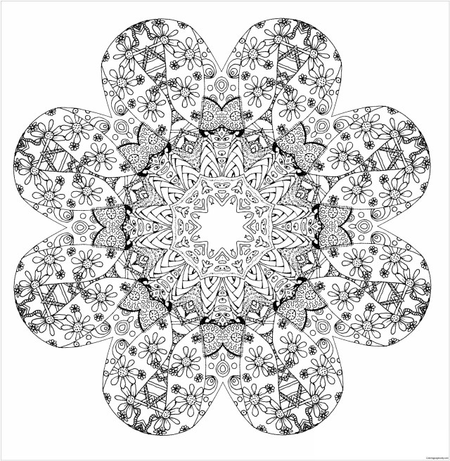 Mandala Stress Relief Coloring Pages - Mandala Coloring Pages