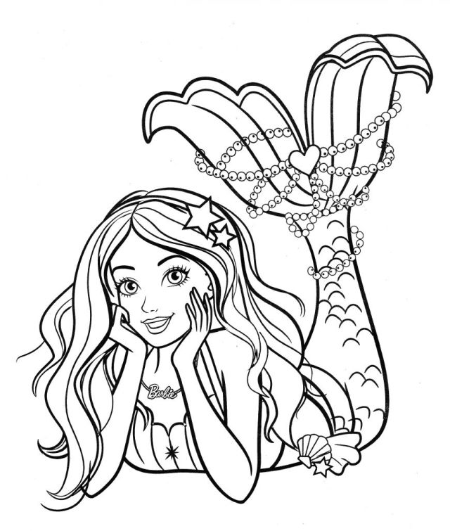 Mermaid Princess Coloring Pages - Cartoons Coloring Pages