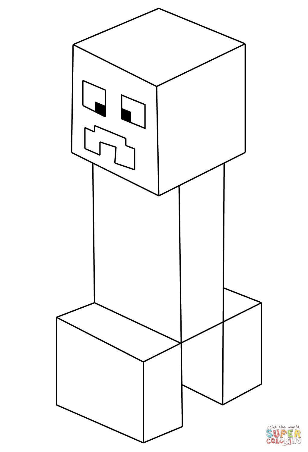 Minecraft Creeper From Minecraft Coloring Page Free