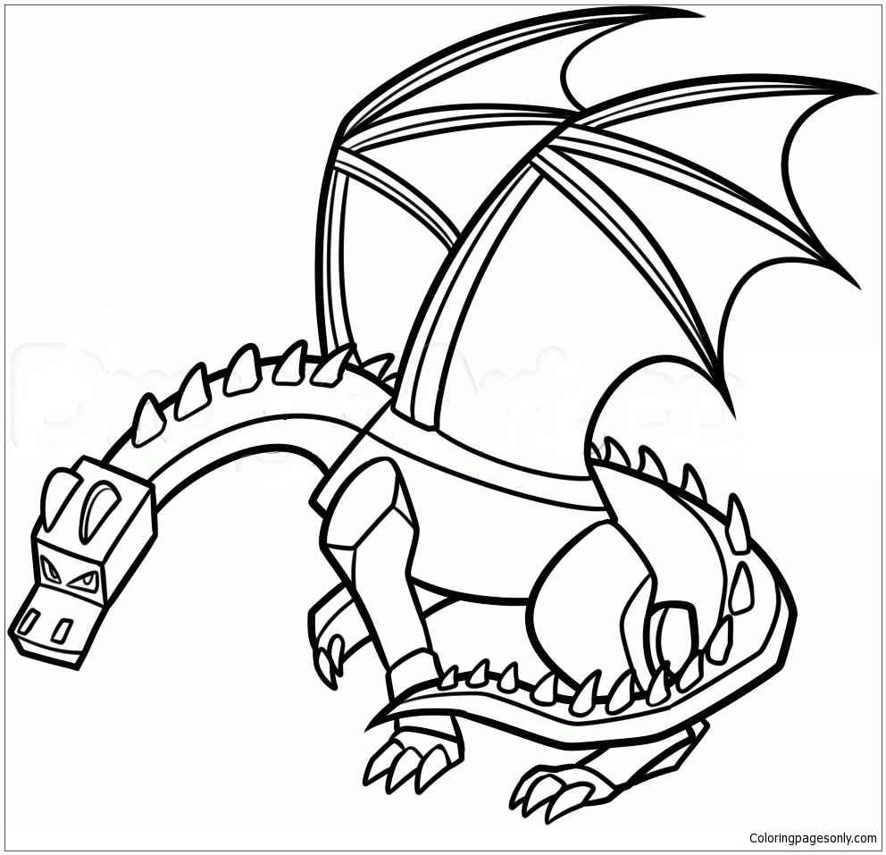 Minecraft Dragon Coloring Page Free Coloring Pages Online