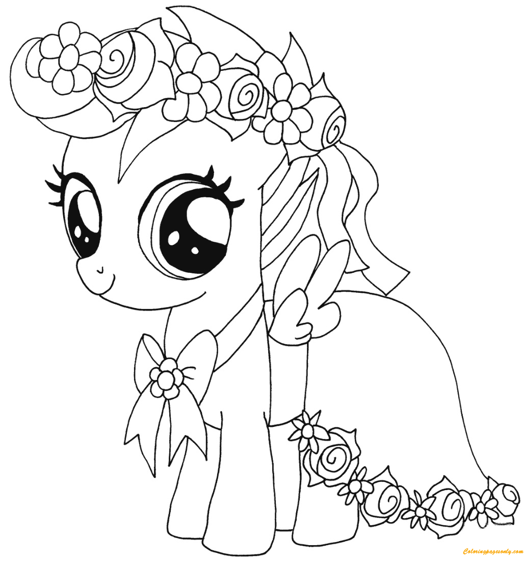 My Little Pony Scootaloo Coloring Page Free Coloring Pages Online