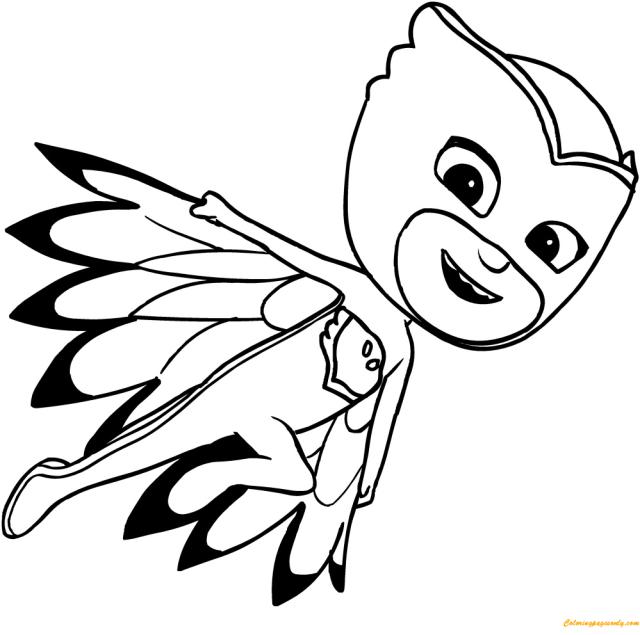 Owlette Pj Mask Coloring Pages - PJ masks Coloring Pages