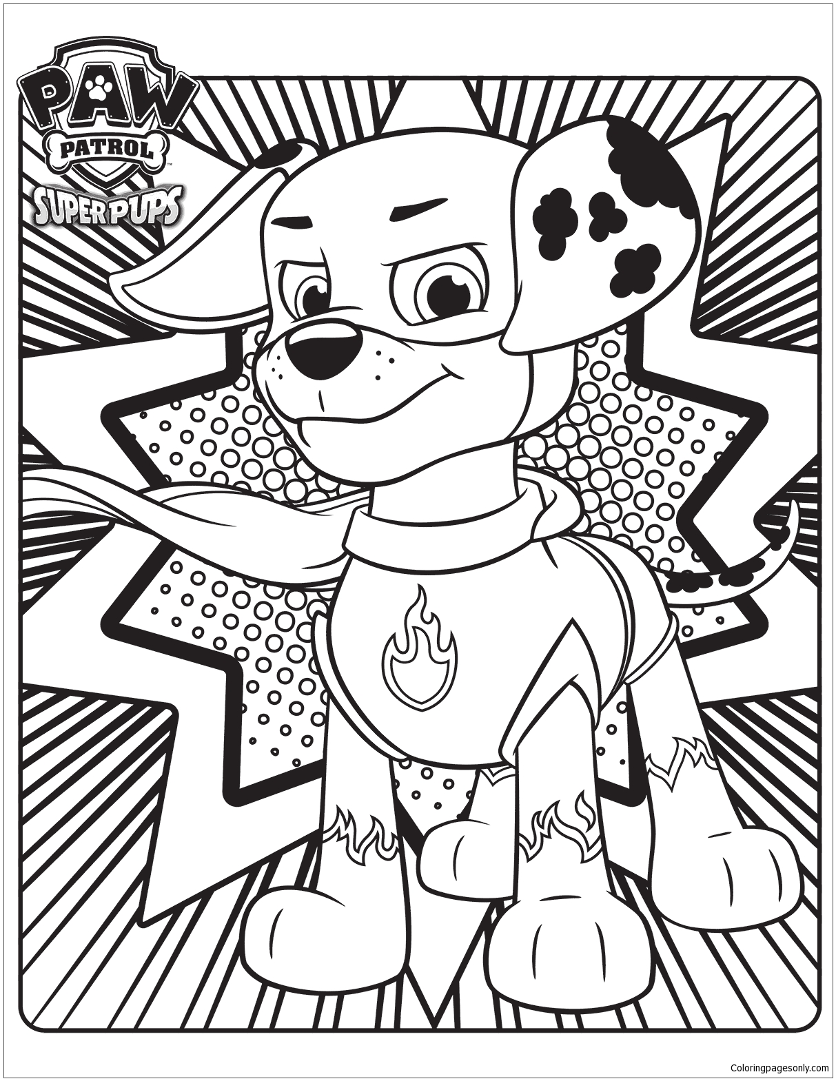 Paw Patrol Super Pups 3 Coloring Page Free Coloring Pages Online