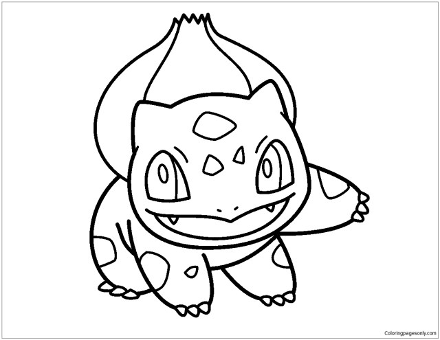 Pokemon Bulbasaur Coloring Pages - Cartoons Coloring Pages