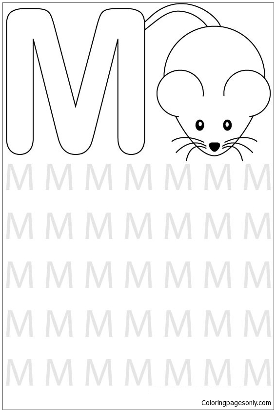 Preschool Letter M Coloring Page Free Coloring Pages Online