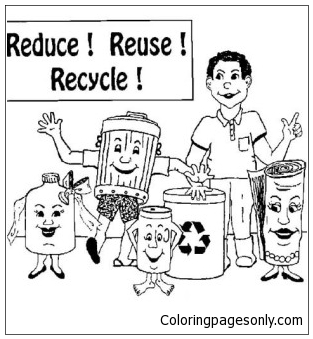 recycle coloring pages # 26